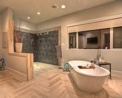 cork floor for bathroom. open shower cork floor bathroom design ideas remodels photos for