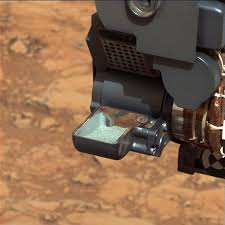 first curiosity drilling sample in the scoop  image ›