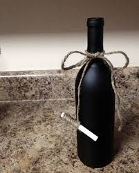 Recycled Wine Bottles-How to Label or Paint a Bottle with Chalkboard Paint  wine botle