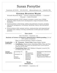 College Resume Example College Resume Sample Monstercom