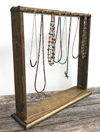 Wooden Necklace Display Stands Necklace Display Necklace Rack Free Standing Wooden Jewelry 66