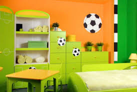 bright paint colors for kids bedrooms. Kids Love Brightly Painted Rooms! Orange Paint On The Walls Combined With Green Furniture, Make For A Playful Room. Bright Colors Bedrooms 0
