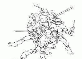 Small Picture Ninja Turtles Coloring Pages Free Printable Kids Coloring
