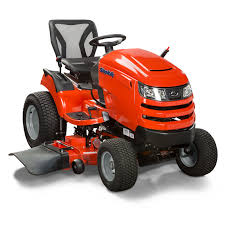 angle view of broadmoor lawn tractor