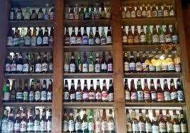 wall of beer bottles