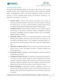 "an internship report on ""internal audit control practice of garment  38"