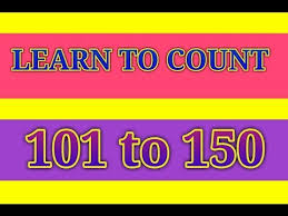 Counting 101 To 150 Numbers In Words