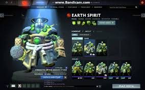 dota2 earth spirit strenght of the demon stone set preview