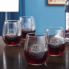 landmark anniversary personalized wine glasses set of 4