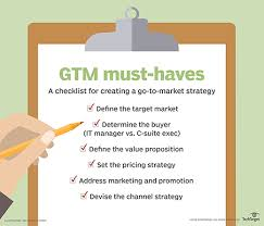 What Is Go To Market Strategy Gtm Strategy Definition From