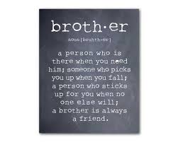 Brotherly Love Quotes Stunning Boys Room Wall Art A Brother Is A Person Quote Inspirational