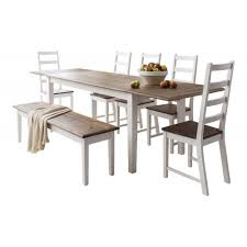 canterbury dining table with 5 chairs bench
