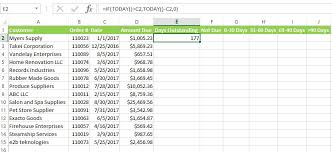 Samples Invoice Adorable HOW TO CREATE AN AGING REPORT IN EXCEL AnytimeCollect