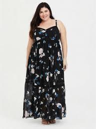 Details About Torrid Womens Black Pink Blue Floral Crochet Chiffon Maxi Dress Plus Size 4 26
