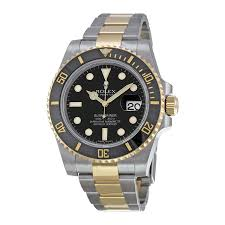 rolex submariner black index dial stainless steel and 18kt yellow rolex submariner black index dial stainless steel and 18kt yellow gold oyster bracelet men s watch 116613bkso