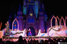Frozen Holiday Wish Castle Lighting Show A Frozen Holiday Wish