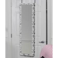 Over The Door Mirrors Mirrotek Plaza Astoria Over The Door Wall Mount Jewelry Armoire