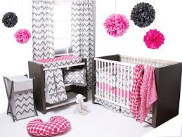 modern pink and grey crib sets for a fabulous nursery that speaks to our senses