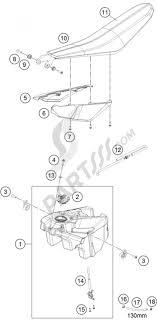 Tank seat cover ktm freeride 250 r 2016 eu