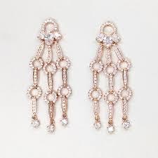 boldholic chandelier rose gold earring