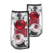 1995 isuzu rodeo custom factory tail lights carid com anzo® chrome red euro tail lights
