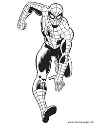 Print this free printable new spiderman coloring page 2019 and draw. Marvel Comics The Amazing Spider Man For Kids Colouring Page Coloring Pages Printable