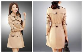 long spring coats womens basic trench coat flare ruffle hem spring trench coat spring raincoat repellent water processing commute west belt with