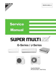 Daikin Inverter Ac Blinking Green Light Daikin Super Multi Nx 2mxs18gvju Specifications Manualzz Com