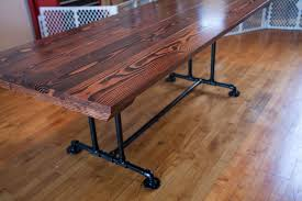 Industrial Style Dining Room Tables 7 Industrial Style Table Farmhouse Dining Table With