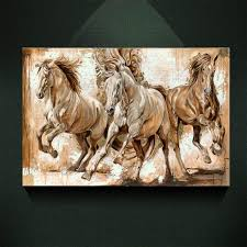 2018 modern european oil painting three galloping horse print on canvas wall art decor canvas poster pictures for living room from tennee 10 86 dhgate