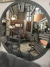 new 60 mirrored round wall clock