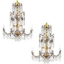 pair of 19th century italian neoclassical style chandeliers