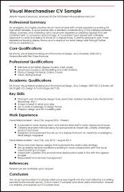 Visual Merchandiser Cv Sample Myperfectcv Waa Mood