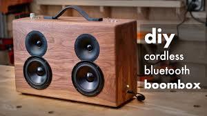 Diy Bluetooth Speaker Design Diy Battery Powered Bluetooth Speaker How To Build Woodworking