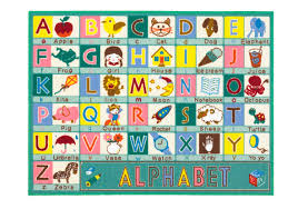 the alphabet personalised childrens rugs