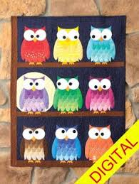 free owl quilt block pattern - Google Search | Sewing | Pinterest ... & cute colorful owl quilt,