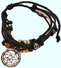 Dream Catcher Bracelet Amazon Amazon Black Dreamcatcher Bracelet Handmade Pendant Indian 3