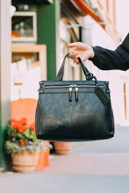 vegan leather black satchel from sole society