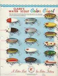 Clark Water Scout Lure Chart Fishing Lure Color Charts