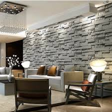 vintage 3d stone brick wallpaper for