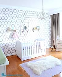 baby girl nursery wallpaper wall ideas pink room decorations