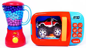 car toy vehicles microwave playset for children pilation video for kids
