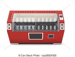 Vending Machine Front Gorgeous Red Vending Machine Front View Isolated On White Background 48d