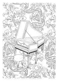 Anti Stress Kleurplaten Muziek Clavecimbel 4