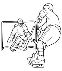 Small Picture Hockey Player Solo to Opponent Goal Coloring Page NetArt