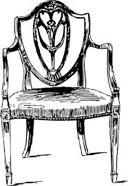 wood furniture clipart. Perfect Clipart Table And Chairs Clipart  Furniture Antique Chair Clip Art  Vector  Online Royalty  Inside Wood Clipart C