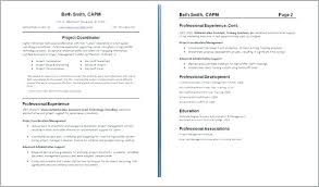 Example Of Cover Page For Resume Second Page Of Resume How Format