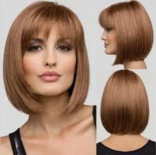 Fashion Short Hair Girls Slant Liu Haibo Wave Head Wig Fluffy