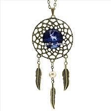 pretty lee expecto patronum necklace harry s patronus jewelry silver dream catcher necklace art photo gl cabochon