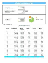 Loan Calculation Template Amortization Loan Calculator Excel Year Mortgage Schedule